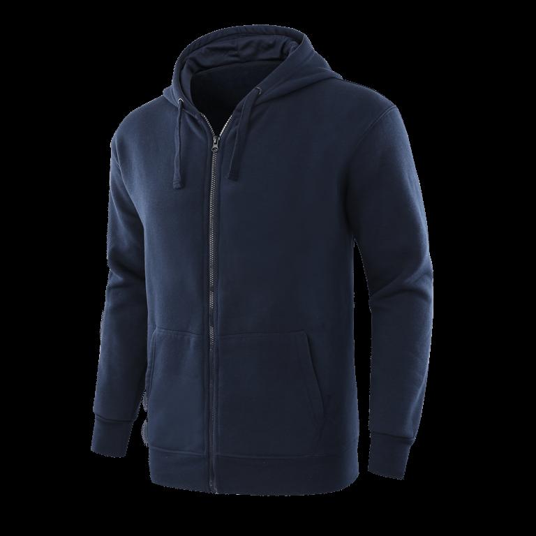 Classic dark blue full zip team hoodie