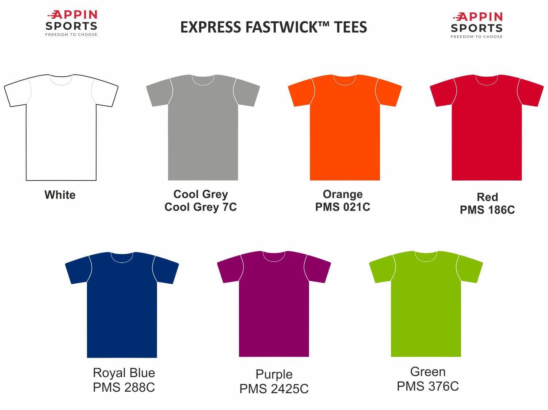 Express Tshirt Colours