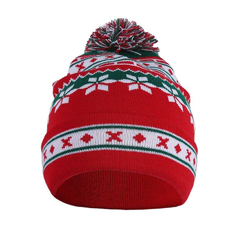 Jacquered Weave Bobble Hat
