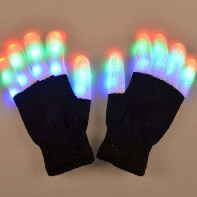 Light up Coloured LED Gloves