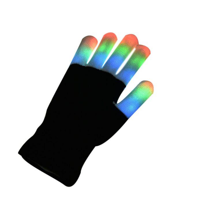 Coloured LED Gloves