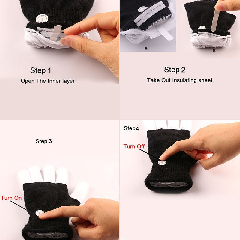 LED Gloves Instructions