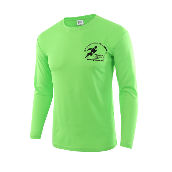 Coloured branded long sleeved tops