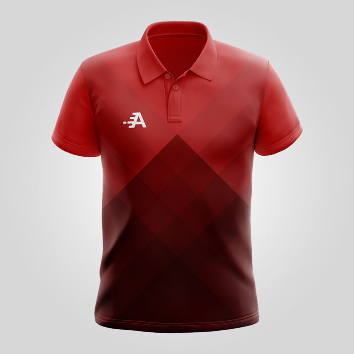 Polo Shirt With Red Gradient