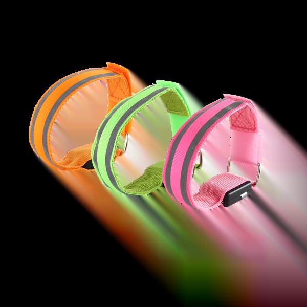 Coloured Reflective LED Armband