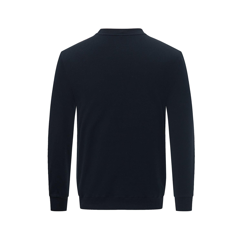 Back view of the Black long sleeved sweatshirt