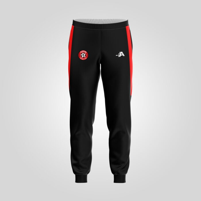 Front View Of Technical Pant In Black & Red