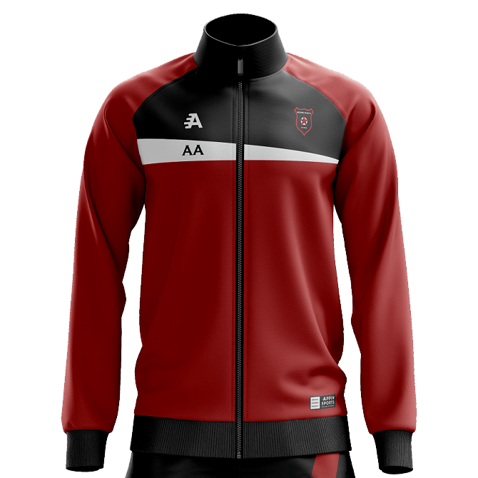 Custom Tracksuit Top In Red