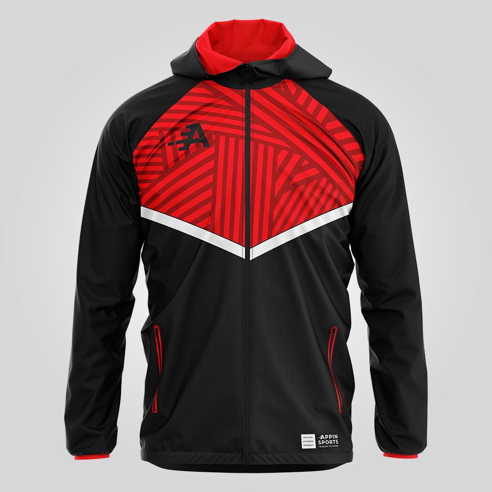Black & Red Rain Jacket