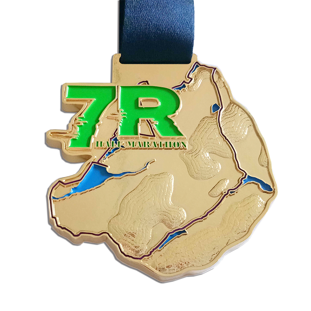 Unique printed sports medals