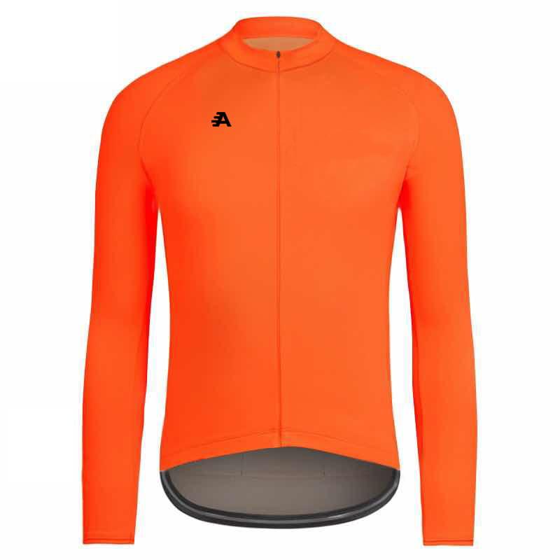 Orange long sleeve cycling jersey