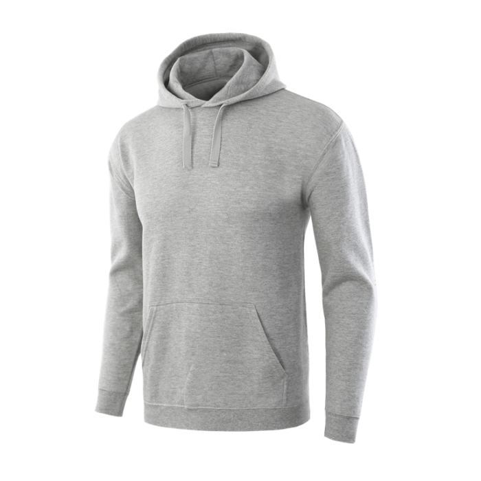 Classic grey pullover team hoodie