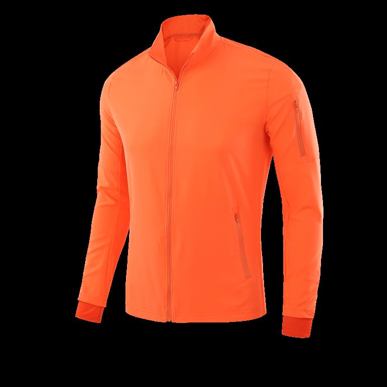 Long sleeved orange sports top