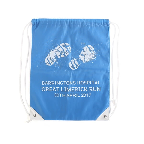 Branded coloured drawstring bags