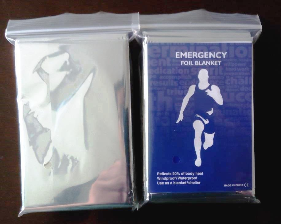 Emergency Foil Blanket with Custom Insert