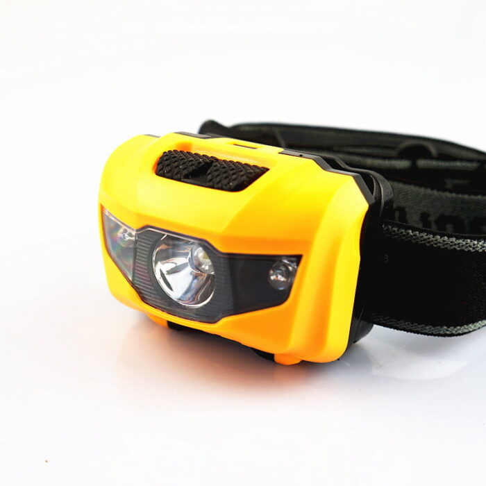 Our safety accessories include this yellow head torch