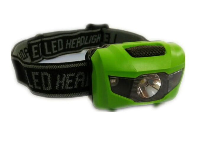 Green Head Torch with Plain Strap