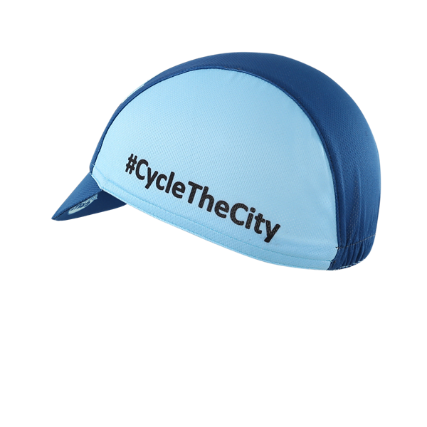 Peaked Blue Cycle Cap