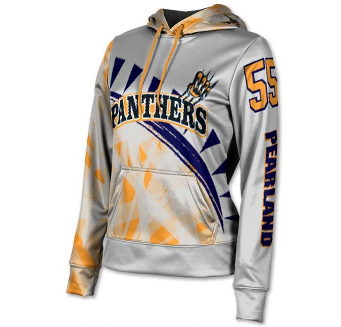 Panthers inspired pullover team hoodie