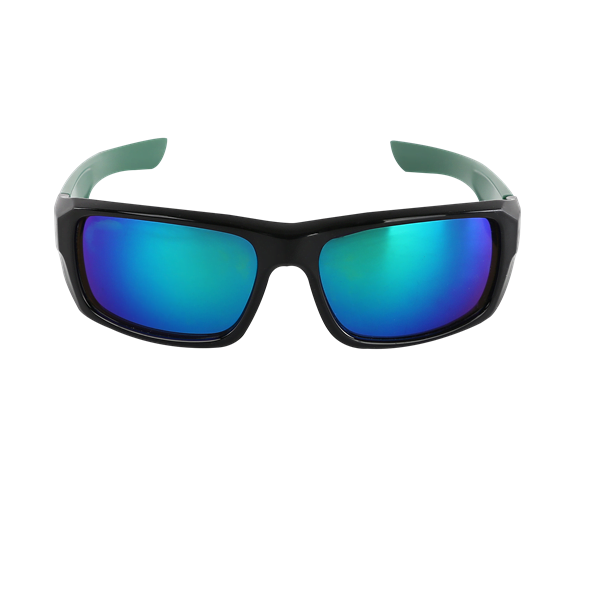 Sport Sunglasses Green Front View