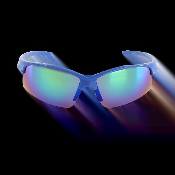 Sport Sunglasses Blue Front View