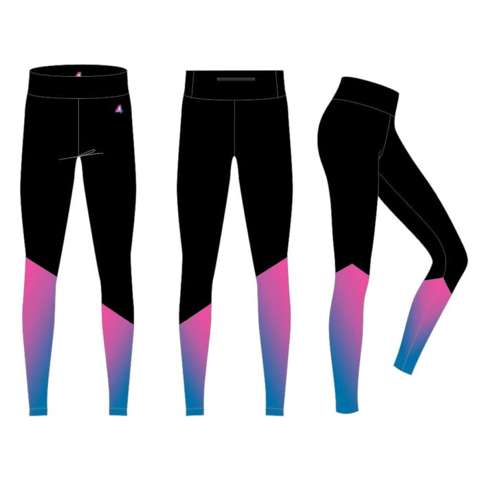 Leggings With Pink & Blue Design