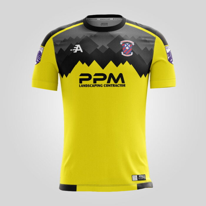 Yellow & Black Short Sleeved Goal Keepers Jersey
